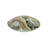 Murano Glass Bead Bed of Roses Oval 23mm Gray & Ivory