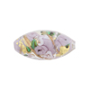 Murano Glass Bead Bed of Roses Oval 23mm Viola