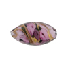Murano Glass Bead Bed of Roses Oval 23mm Pink