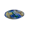 Murano Glass Bead Bed of Roses Oval 23mm Blue