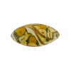 Murano Glass Bead Bed of Roses Oval 23mm Topaz