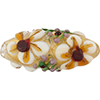 Murano Glass Bead Lampwork Oval Flowers 36x15mm, Gold Topaz