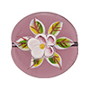 Murano Glass Bead Porcelain Flowers Flat Round 25mm Transparent Amethyst