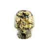 Skull 20mm Black Cracked Gold Foil Murano Glass Bead