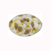 Gold Sommerso Speckled Oval 22x14mm White Murano Glass