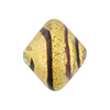 Tigrato Black Stripes 24kt Gold Foil Bicone 22x18mm Venetian Bead