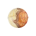 Orange/Red White Filigrana Fenicio Gold Foil Disc 18mm Murano Glass
