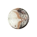 Black and White Filigrana Fenicio White Gold Foil Disc 18mm Murano Glass
