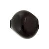 Murano Glass Bead Blown Pebble,25mm, Black