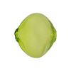 Murano Glass Bead Blown Pebble,20mm, Verde Erba