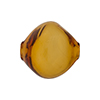 Murano Glass Bead Blown Pebble,20mm, Topaz