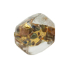Venetian Bead Sasso Calcedonia & Gold Foil 20mm