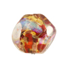 Venetian Bead Dichroic Sparkles Pebble, Red Gold 20mm