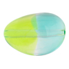 Peridot and Aqua Sasso 30x21, Bicolor Murano Glass Bead