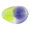 Peridot & Plum Purple Sasso 30x21, Bicolor Murano Glass Bead
