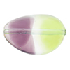 Peridot & Amethyst Purple Sasso 30x21, Bicolor Murano Glass Bead