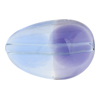 Blue & Plum Purple Sasso 30x21, Bicolor Murano Glass Bead