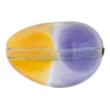 Topaz & Plum Purple Sasso 30x21, Bicolor Murano Glass Bead