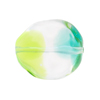 Green & Aqua Sasso 23x20mm, Bicolor Murano Glass Bead