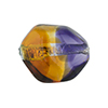Topaz, Plum Sasso 23x20mm, Bicolor Sterling Silver Foil Murano Glass Bead