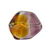 Topaz, Purple Sasso 23x20mm, Bicolor Sterling Silver Foil Murano Glass Bead