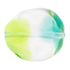 Green & Aqua Sasso 29X24mm, Bicolor Murano Glass Bead
