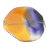 Topaz & Plum Purple Sasso 29X24mm, Bicolor Murano Glass Bead