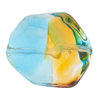 Topaz & Aqua Sasso 29X24mm, Bicolor Murano Glass Bead