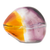 Topaz & Amethyst Sasso 29X24mm, Bicolor Murano Glass Bead