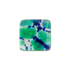 Sea Foam Green Silver Square Fused Murano Glass Cabochon