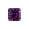 Plum Silver Square Fused Murano Glass Cabochon