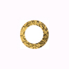 Murano Glass Gold Fused Circle 14mm - Links, Black