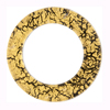 Murano Glass 24kt Gold Fused Circle 29mm - Links, Black