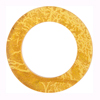 Murano Glass 24kt Gold Fused Circle 29mm - Links, Topaz
