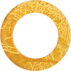Murano Glass 24kt Gold Fused Circle 50mm - Links, Topaz