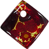 Red Millefiori Curved Diagonal Fused Pendant 30mm