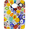 Pastel Multicolots Curved Rectangle 40mm  Millefiori Fused Murano Glass Pendant