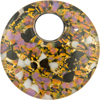 Fused Murano Glass Pendant 40mm Round, Curved, Bronze Lilac Gold
