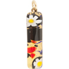 Black, Red, Daisy Gold Skinny 10x40mm Pendant W/Bail, Murano Fused Glass