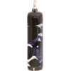 Black and Aventurina Silver Foil Skinny 10x40mm Pendant W/Bail, Murano Fused Glass