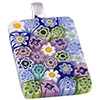 Murano Glass  Millefiori  Slide 40mm, Multi Pastels