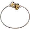 PerlaVita Small Bangle, 6.75 Inch 2 Beads Sterling Silver
