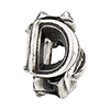 Letter of the Day - D Sterling Silver Large Hole Charm Bead