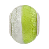 Peridot/Silver Foil Bicolor Rondell Sterling Insert