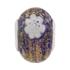Ca'd'Oro Charm Bead - Cobalt Blue w/Gold Foil with Millefiori