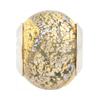 Exterior Gold Dichroic Gray Rondel 14x10 Sterling Insert PerlaVita