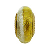 14x8mm Smaller Gold and Silver Foil Bicolor Rondell Vermeil Insert PerlaVita™
