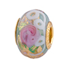 Pervinca Serenissima Large Hole Murano Glass Charm Bead Rondel Vermeil Insert