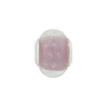 Large Hole Bead 4.5mm Murano Glass Silver Insert, Caramella Bubbles Pink