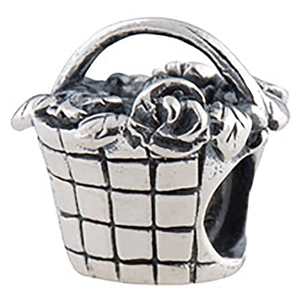 pandora basket of flowers charm